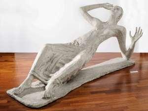 Umberto Milani, Annunciata, 1950, cm 176x90x80h, gesso