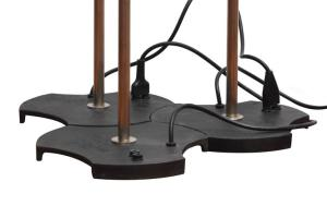 Gino Sarfatti, set di tre lampade da terra Arteluce