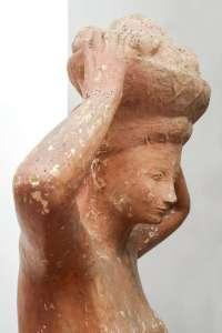 Umberto Milani, Figura allegorica, 1940, cm 90x55x210h, gesso patinato