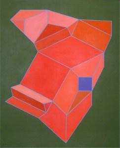 Achille Perilli, Il fesodei, 2005, tecnica mista su tela, cm 81x65