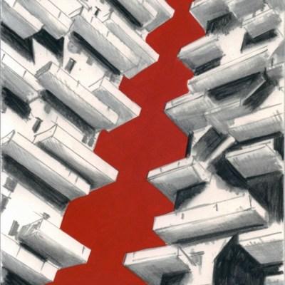 Marco Petrus, La città che vive, 2014, tecnica mista su cartone, cm 24x20
