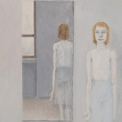 Guido Somaré, Riflessi di donna, anni '60, olio su tela, cm 70x60