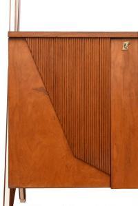 Mobile a stipo a due ante, fine anni '50, legno e laminato bianco