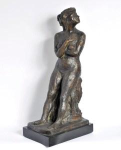 Carmelo Cappello, Donna seduta, 1944, cm 17x23x51, bronzo, pezzo unico