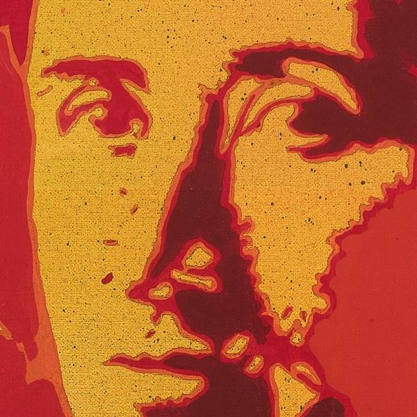Giangiacomo Spadari, Rosa Luxemburg, anni '70, 70x70 cm, acrilico su tela. Dettaglio