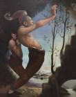 Conflitto, Massimo Pedrazzi, 180×140, olio su tela