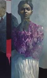 Delle Rose, 150×160 cm, olio su tela