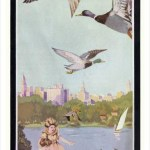 Retro art print featuring the Lake Merritt geese