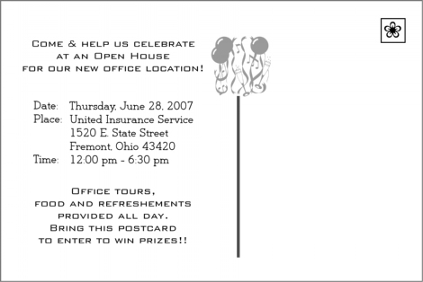 Insurance Business Open House Invitations Help Plans