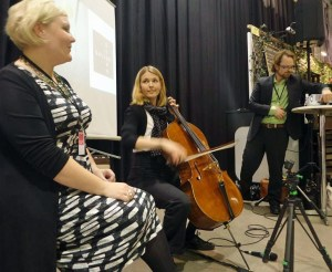 En Vocalist  En Cellist Oändlighetens näste Behind the scenes Sonja Hesslow Galleri Duerr Affordable Stockholm 2014