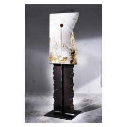 Profile. Nature is Perfect series. 170 cm x 43 cm x 12 cm. White travertine, gold leaf. € 8 500