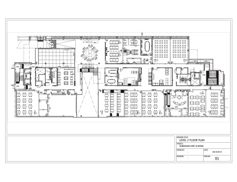 Level 2 Floorplan, Sheridan HMC B-Wing