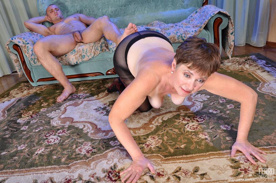 Christiana and Nicholas pantyhosefucking playful mature chick