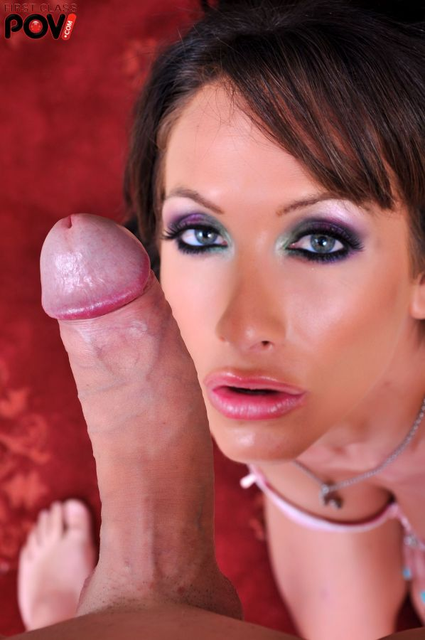 Randi Wright sucks a massive cock