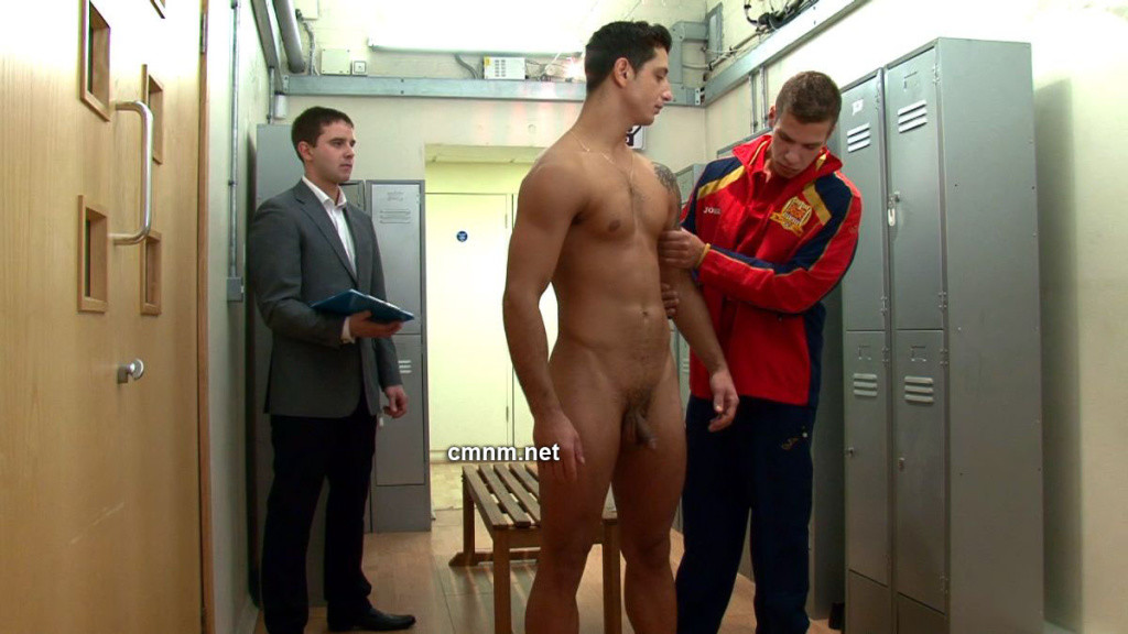 star footballer gets locker room exam  GayDemon