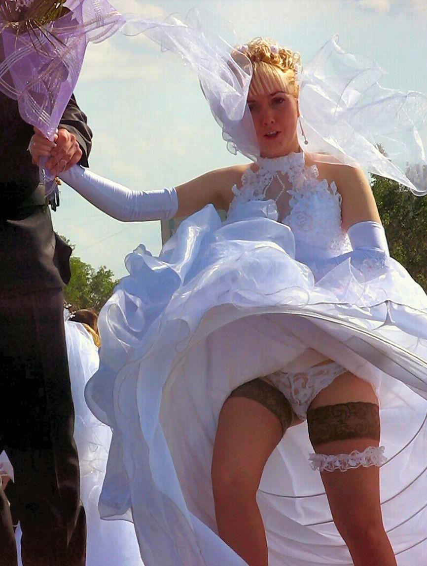 Sexy Bride Panties Upskirt Pics
