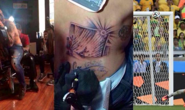 Pinilla si tatua la traversa colpita contro il Brasile nel Mondiale del 2014 | Numerosette Magazine