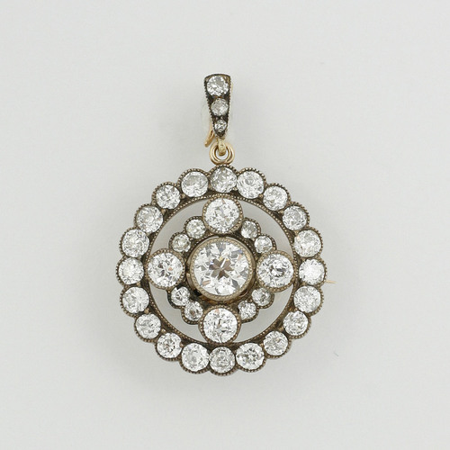 Diamond pendant brooch mozeypictures Choice Image