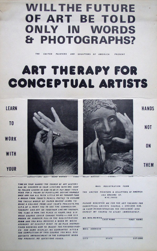 Neke Carson Art Therapy Conceptual Artists Book 1972