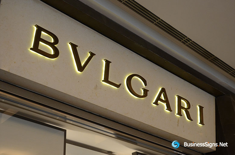 3D LED Back Lit Signs With Brushed Copper Plated Letter