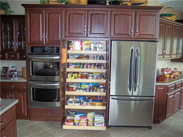 Pantry Cabinet: Pull Out Pantry Cabinets With How To