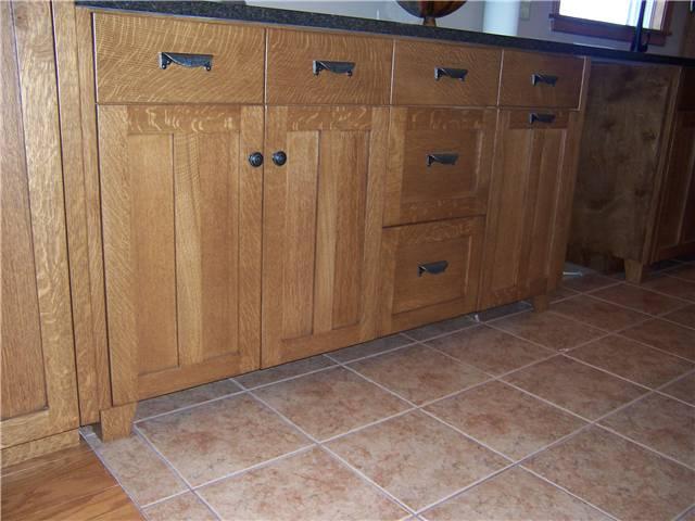 Quarter Sawn White Oak Kitchen Cabinets | Nrtradiant.com On Mission Style  Oak Kitchen Cabinets ...