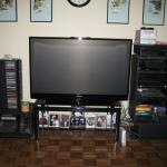 samsung hl-t5676s hdtv and stand