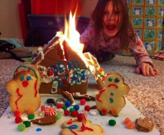 Burning down the gingerbread house
