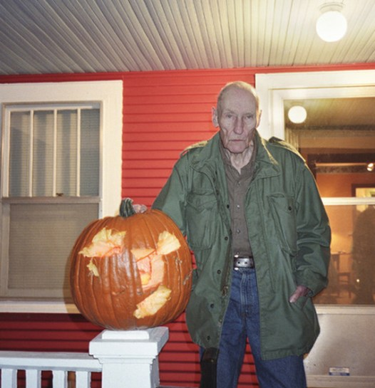 William S. Burroughs with pumpkin Photo by Philip Heying