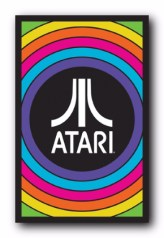 Atari blacklight poster