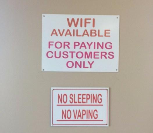 No sleeping No vaping