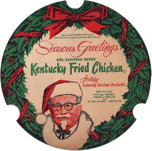 Seasons Greetings KFC bucket top