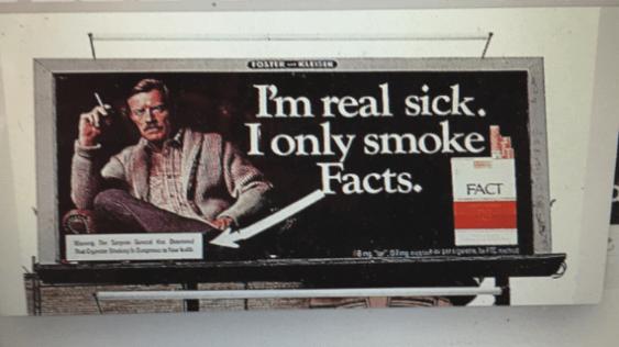 I'm real sick billboard by John Law 1977