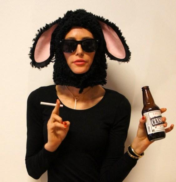 Black Sheep Head mask costume