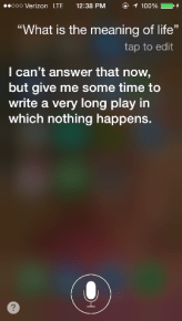 Siri, what is the meaning of life?