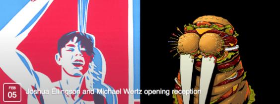 Joshua Ellingson and Michael Wertz opening reception