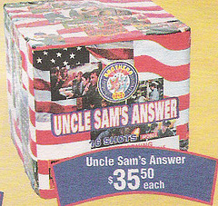 Uncle SAM's Answer fireworks
