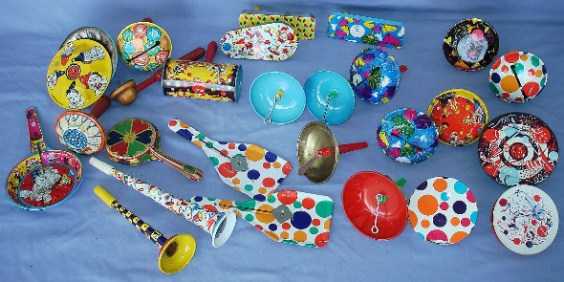 Vintage New Year's Eve noisemakers