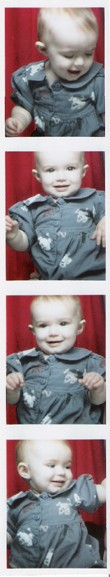 Scarlett as a baby, photo booth