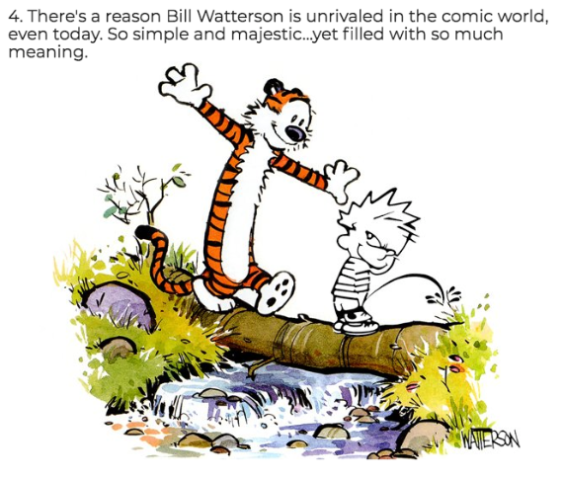 Calvin peeing is never not funny