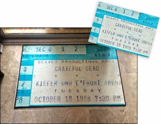 Concert ticket floor mats
