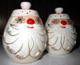 Vintage Holt Howard Starry Eyed Santa Christmas Salt & Pepper Shaker Set