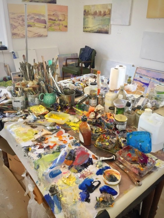 Frances Knight's studio in Arundel
