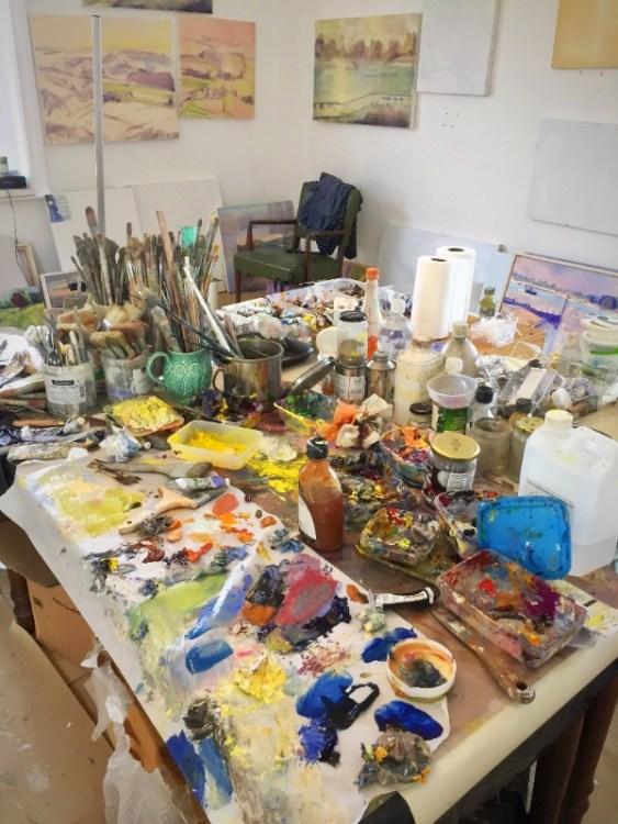 Frances Knight's studio in Arundel