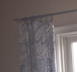 Update your window treatments seasonally by using curtain clips and tablecloths.