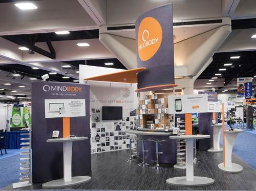 MindBody trade show display designed by New York-based Creatacor