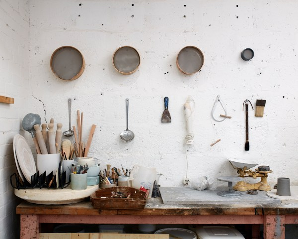 Elaine Bolt ceramics studio, image by Thom Atkinson