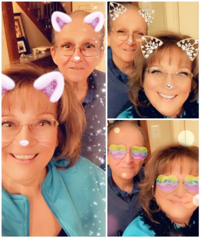 Enjoying a smile or two with our Snapchat filters!