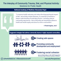 New NAM Perspectives |  The Interplay of Community Trauma, Diet, and Physical Activity