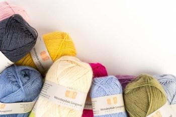 Wensleydale Longwool yarn balls